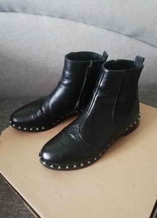 Стильные ботинки челси, ботильены, кожаные