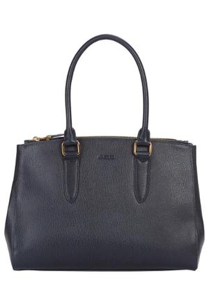 Шикарная кожаная сумка держит форму в идеале длинные ручки на плечо тоут легкая