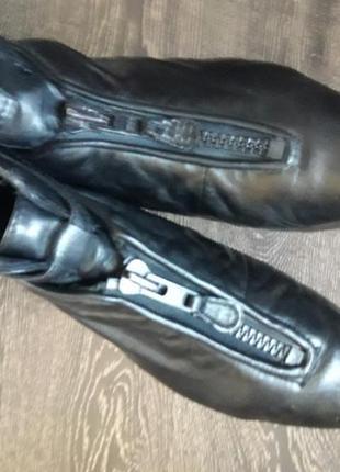 Короткие ботинки ciao на низком ходу из мягкой натуральной кожи