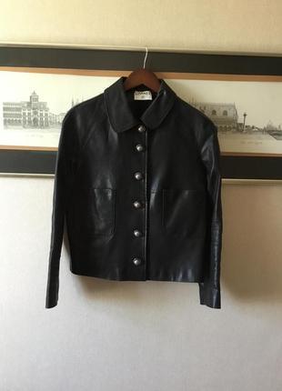 Куртка натуральная кожа шанель