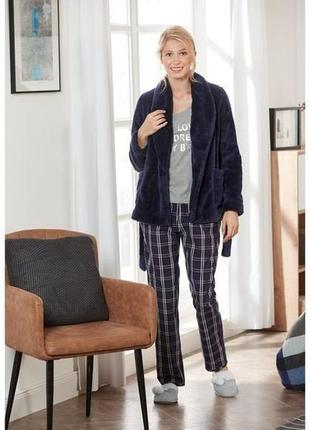 Тёплый домашний костюм тройка, женская пижама esmara германия, меховая