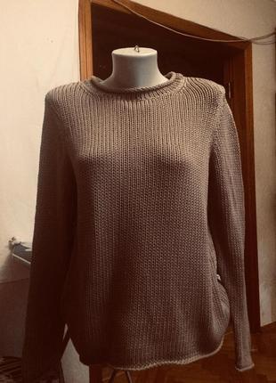 Джемпер,свитер,половер,кофта,крупная вязка,хлопковая нить,h&m