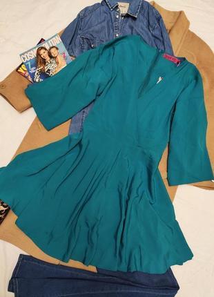 Бирюзовое зелёное новое платье свободное оверсайз кимоно boohoo2 фото