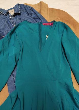 Бирюзовое зелёное новое платье свободное оверсайз кимоно boohoo4 фото