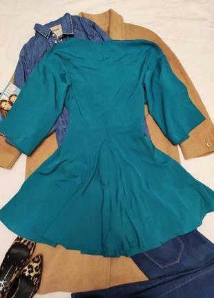 Бирюзовое зелёное новое платье свободное оверсайз кимоно boohoo5 фото