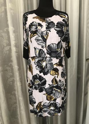 Warehouse платье в крупные цветы