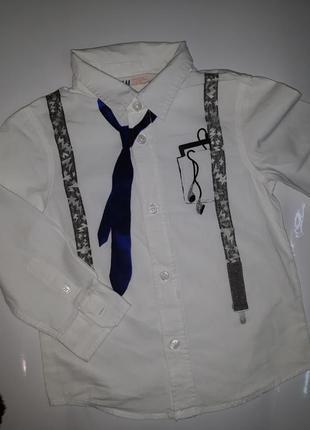 Рубашка h&m в новом состоянии 98 см 85 грн