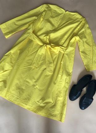 Платье жёлтое cos