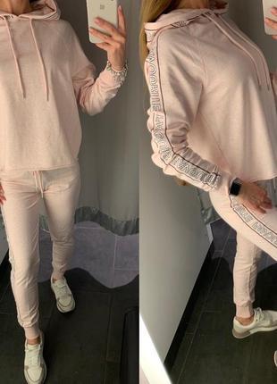 Легкие пудровые спортивные штаны джоггеры amisu есть размеры