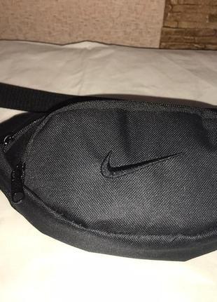 Поясная сумка бананка сумка на пояс тканевая найк . черный