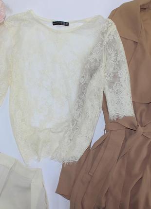 Шикарная ажурная блуза топ майка