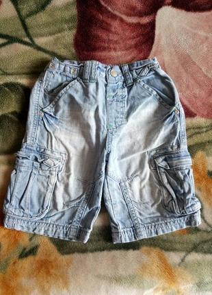 Шорты джинсовые next на 2-4 года