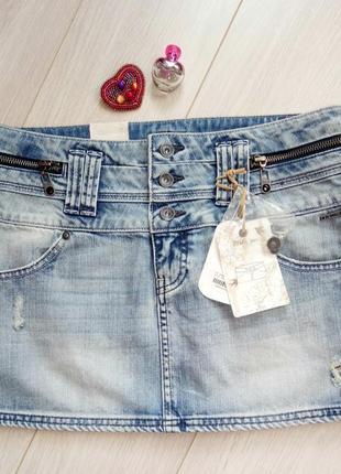 Новая джинсовая голубая мини юбка #розвантажуюсь