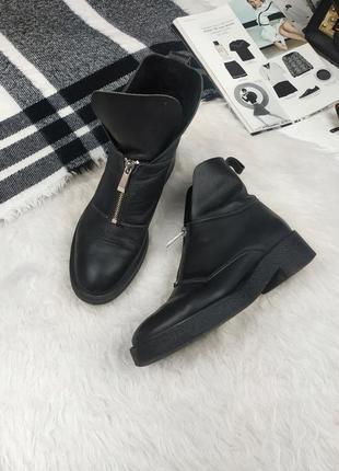 Акция бесплатная доставка кожаные ботинки сапожки zara шкіряні