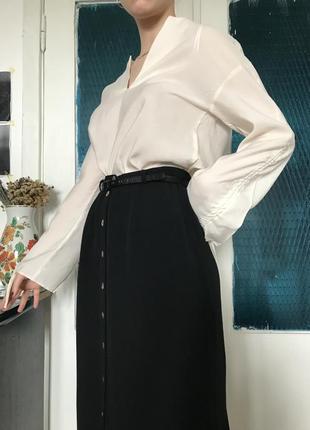 Длинная юбка wallis чёрного цвета на пуговичках с разрезами