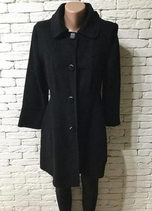 Демисезонное шерстяное пальто, без подкладки