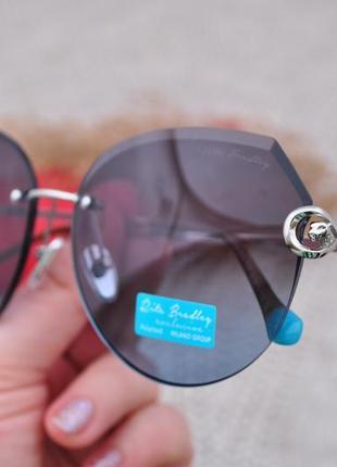 Фирменные безоправные градиентные солнцезащитные очки rita bradley polarized окуляри