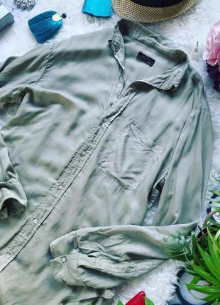 Невероятно лёгкая свободная удлиненная рубашка премиум класса от zara
