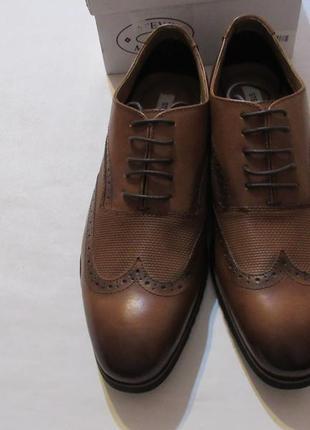 Туфли оксфорд steve madden langdon oxford cognac leather  оригинал 43.5eur