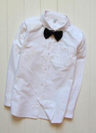 M&s. размер 6-7 лет. белоснежная нарядная рубашка для мальчика