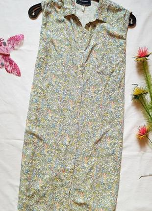 Летнее платье рубашка в актуальный принт цветы river island