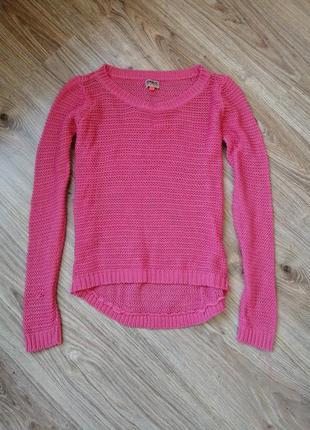 Кофточка, лонгслив сеточка, only розовая 42-44