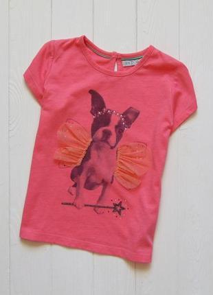 M&s. размер 4-5 лет. яркая футболка для девочки