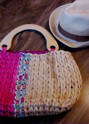 Винтажная сумка из соломы