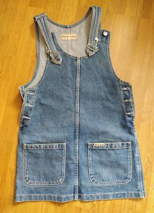 Джинсовый комбинезон, джинсовое платье