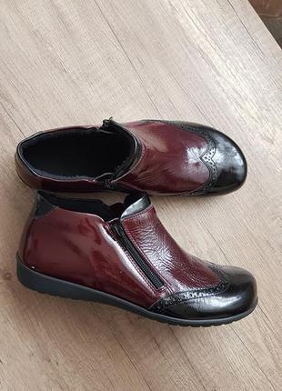 Ботинки кожаные, полуботинки кожаные helvesko