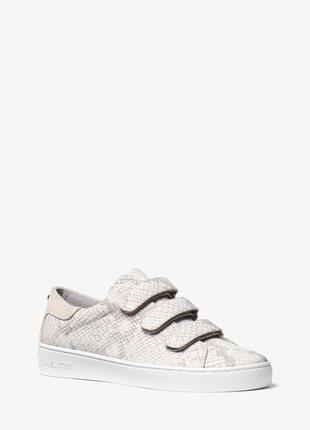 Кроссовки кеды оригинал michael michael kors craig embossed leather sneaker in natural