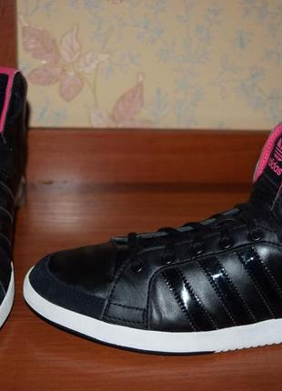 Высокие кроссовки adidas кожа р.41