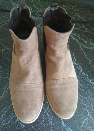Ботинки натуральный замша1 фото