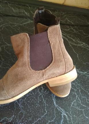 Ботинки натуральный замша6 фото