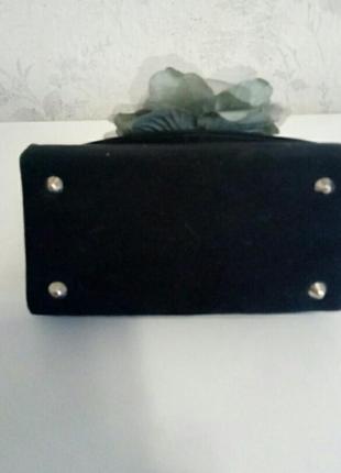 Шикарная дамская сумочка каркасная4 фото