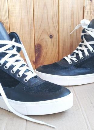 Новые итальянские полностью кожаные высокие кеды ботиночки northstar хайтопы сникерсы