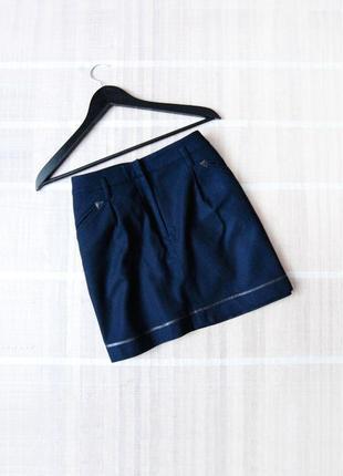 Теплая шерстяная юбка topshop