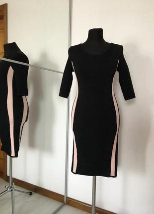 Идеальное платье футляр миди по фигуре, бандажное, m-l