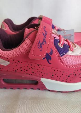 Модные кроссовки для девочек малиновые 26 28 29 30  размер