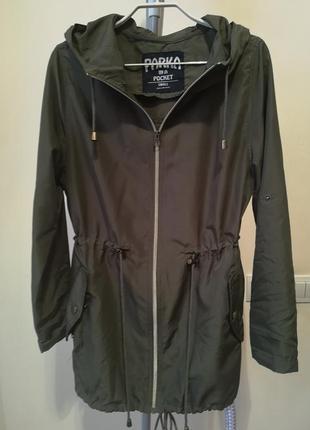 Стильная куртка парка плащ хаки  in a pocket atmosphere xs-s (34-36)