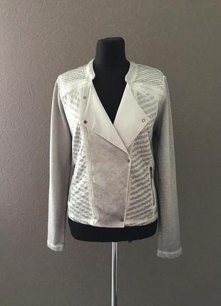 Модная куртка косуха, брендовый трикотажный пиджак,блейзер