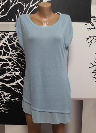 Удлиненная блузка indigo идеальное состояние l