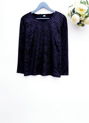 Красивый бархатный свитер чёрный джемпер