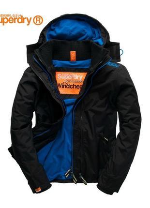 #розвантажуюсь.superdry windcheater - теплая  куртка с капюшоном.
