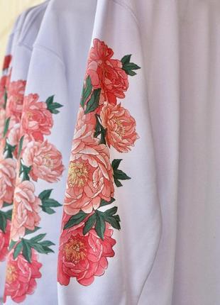 Платье свитшот оверсайз дизайнерский цветочный принт koikawa