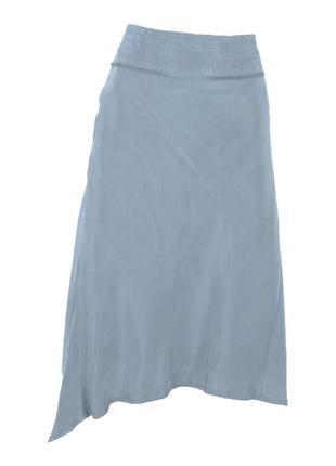 Серая юбка-рыбка на подкладке