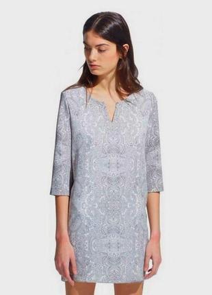 Классическое прямое платье в принт , очень классное