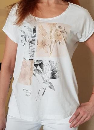 Легкая белая футболка esprit