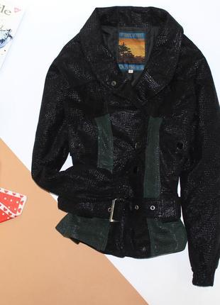 Приталенная курточка бомпер имитация кожи , очень классная