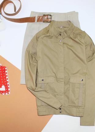 Шикарная котоновая бомпер  курточка вставки мешковина , офигительная